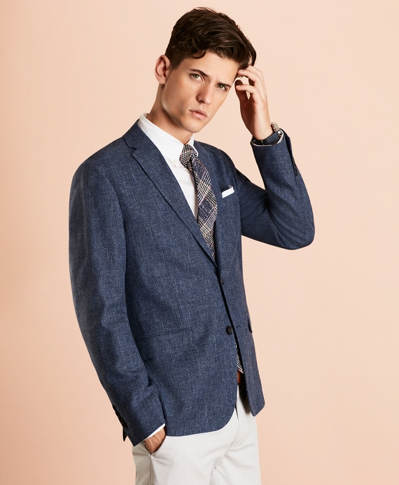 Wool-Blend Two-Button Sport Coat Blue