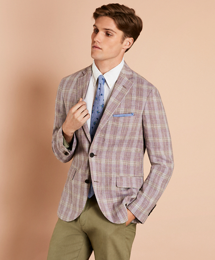 Plaid Linen Sport Coat