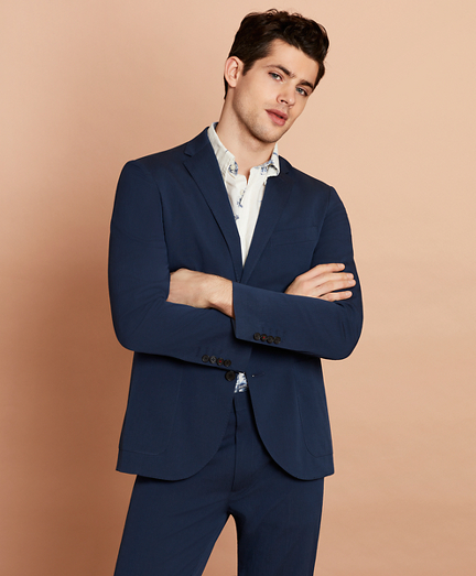 Seersucker Two-Button Sport Coat