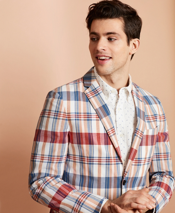 Madras Cotton Two-Button Sport Coat Multi