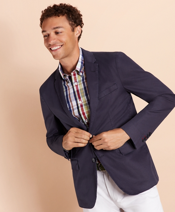 Stretch Cotton Twill Sport Coat Navy