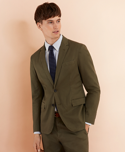 Stretch Cotton Twill Sport Coat