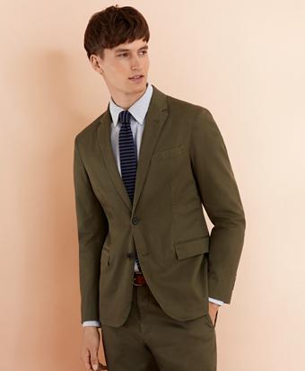 Stretch Cotton Twill Sport Coat