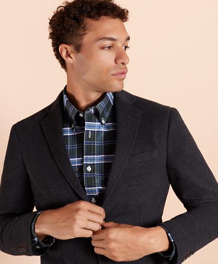 Two-Button Knit Blazer