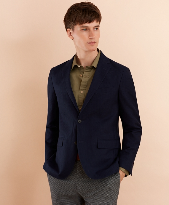 Wool-Blend Dobby Sport Coat Navy