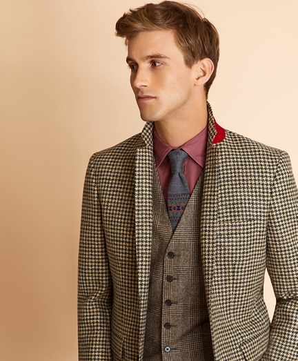 Houndstooth Wool Twill Sport Coat