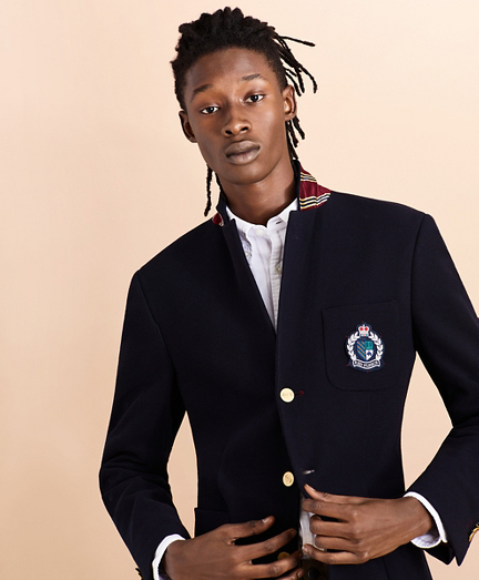 Three-Button Twill Sport Coat