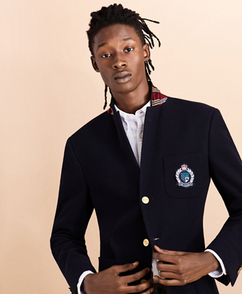 Two-Button Twill Sport Coat