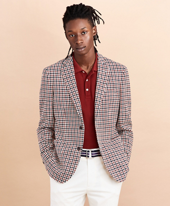Two-Button Gingham Sport Coat