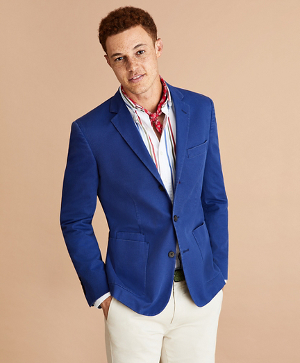 Stretch Cotton Three-Button Sport Coat