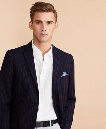 Striped Cotton Sport Coat