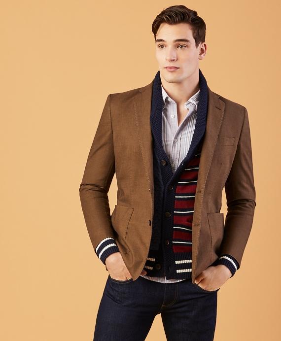 Cotton Dobby Sport Coat Tan