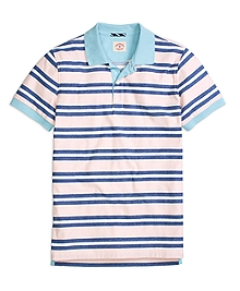 Three-Color Stripe Polo Shirt