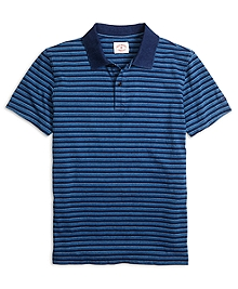 Stripe Jersey Polo Shirt