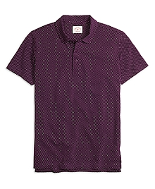 Printed Dot Polo Shirt