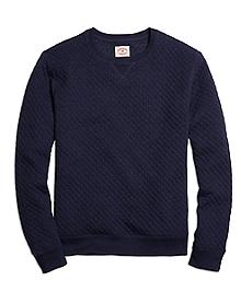 Jacquard Quilted Crewneck Sweatshirt
