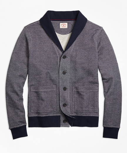 French Terry Shawl-Collar Cardigan