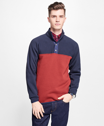 Half-Button-Up Polar Fleece Jacket