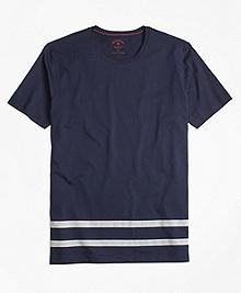 Stripe-Hem Jersey T-Shirt