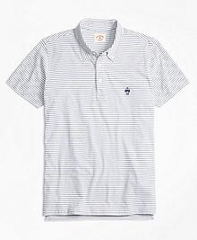 Feeder-Stripe Jersey Polo Shirt