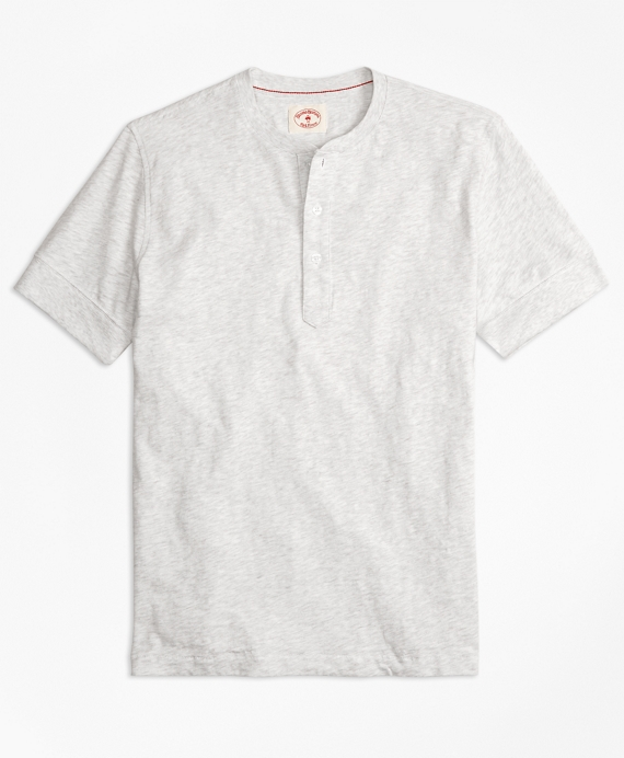 Slub Jersey Short-Sleeve Henley Grey
