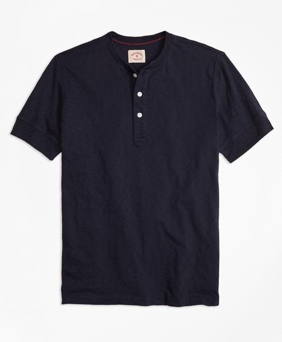Slub Jersey Short-Sleeve Henley Navy