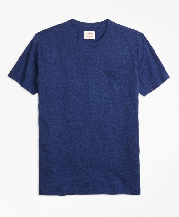 Cotton Jersey Pocket T-Shirt Indigo
