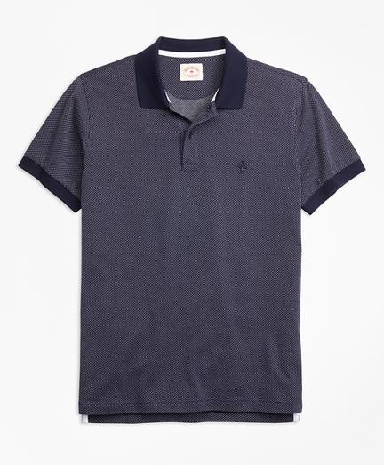 Bird's-Eye-Knit Cotton Polo Shirt