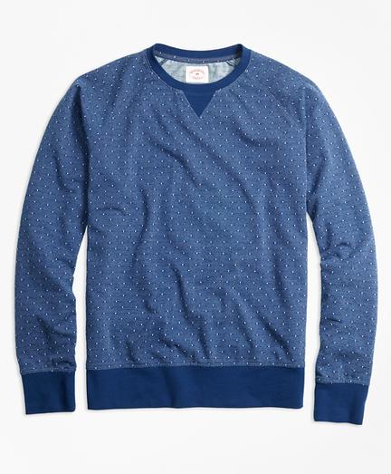 Dobby-Dot French Terry Sweatshirt