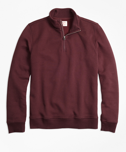 Half-Zip Pique-Fleece Sweatshirt