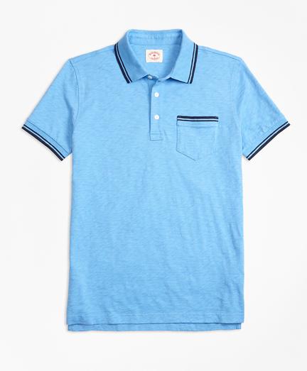 Slub Cotton Jersey Polo Shirt