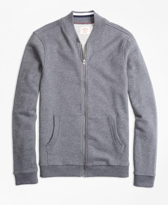 French Terry Baseball Jacket Grey