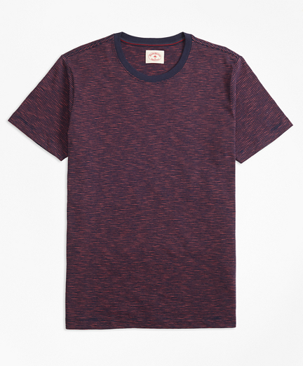 Feeder-Stripe Slub Cotton T-Shirt
