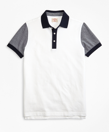 Colorblock Cotton Pique Polo Shirt