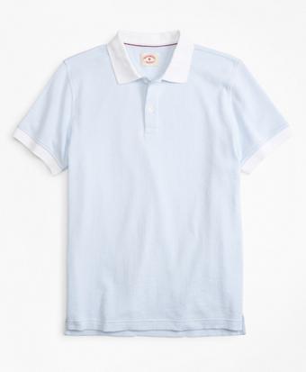 Striped Textured Cotton Jacquard Polo Shirt