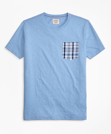 Slub Cotton Jersey Seersucker-Pocket T-Shirt