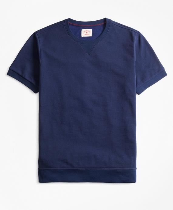 French Terry Short-Sleeve Sweatshirt Navy