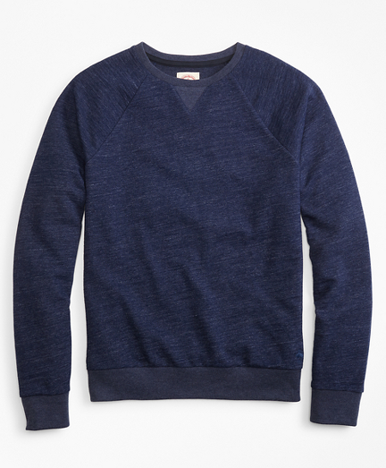 Indigo French Terry Crew Sweatshirt