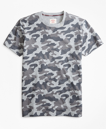 Camo-Print Cotton Jersey T-Shirt