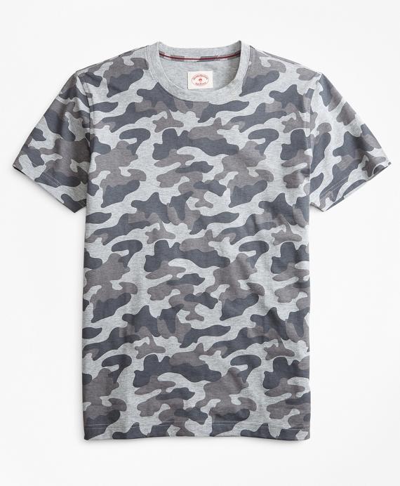 Camo-Print Cotton Jersey T-Shirt Grey