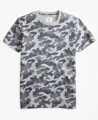 Camo-Print Cotton Jersey T-Shirt
