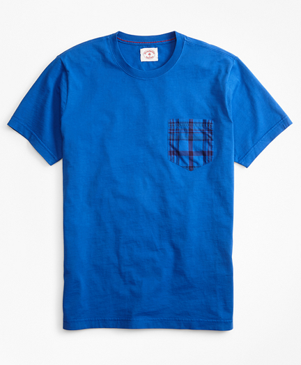 Cotton Jersey Woven-Pocket T-Shirt