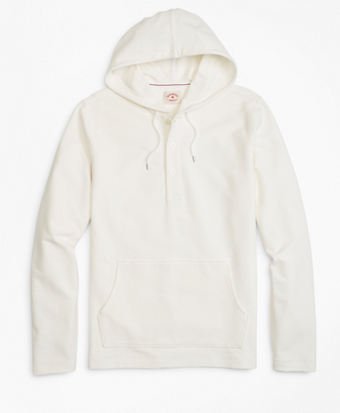 Solid French Terry Hooded Henley