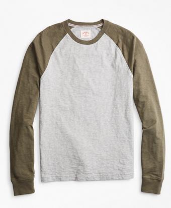 Slub Cotton Jersey Baseball T-Shirt