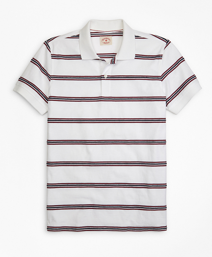 Rope Striped Jacquard Polo Shirt