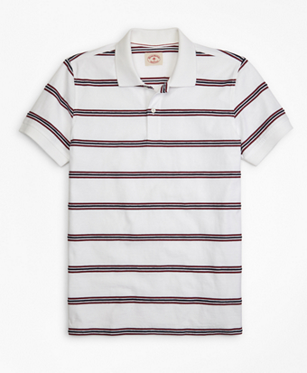 Rope Striped Jacquard Polo Shirt