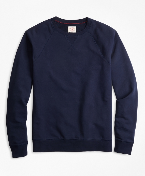 French Terry Crewneck Sweatshirt by Brooks Brothers