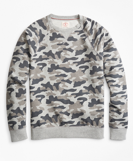 French Terry Camo Crewneck Sweatshirt
