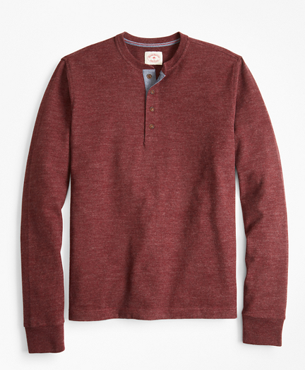 Brushed Cotton Henley