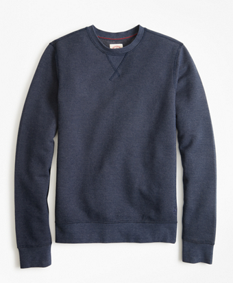 Textured Stripe Crewneck Sweatshirt